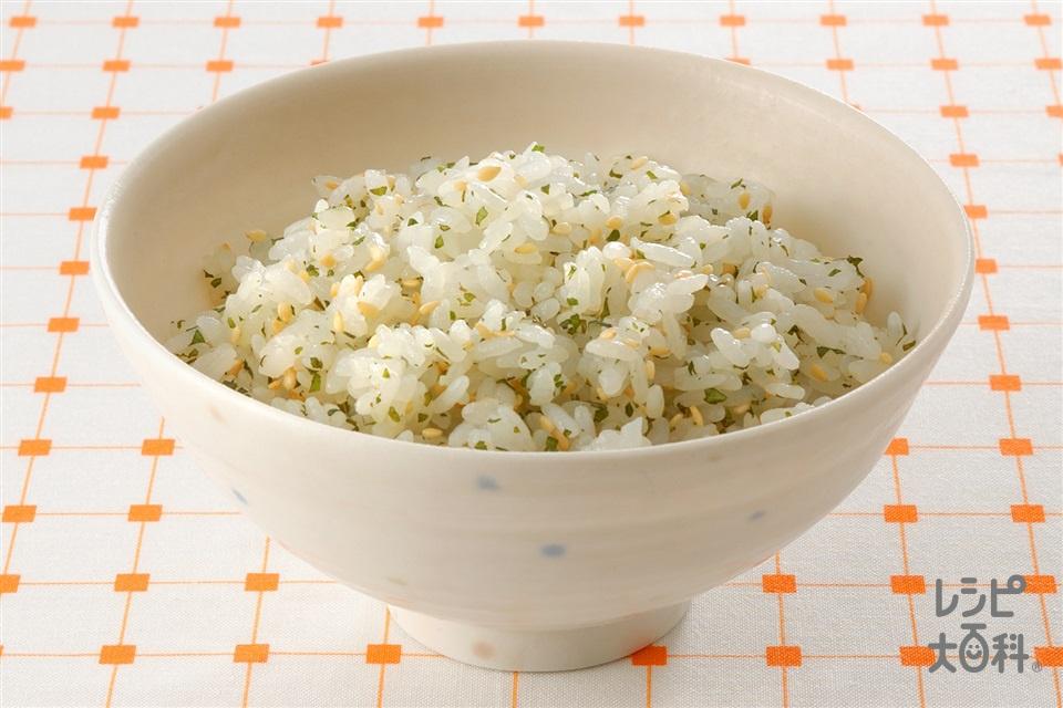 しそこんぶご飯(ご飯+いり白ごまを使ったレシピ)