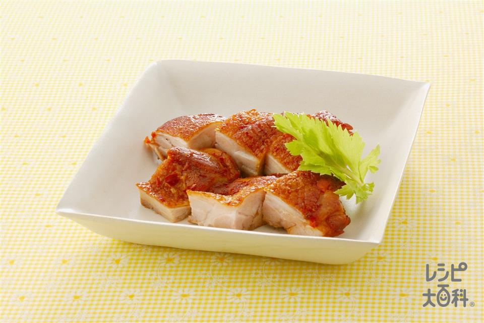 鶏肉の豆板醤焼き(鶏もも肉+Aしょうゆを使ったレシピ)