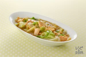 レタスとツナのサッと煮