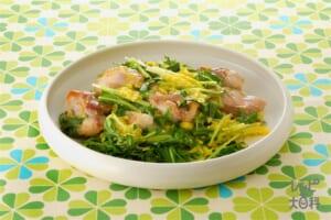 水菜と鶏肉の洋風卵とじ