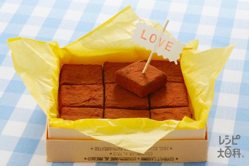 生チョコ(製菓用スイートチョコレート+生クリームを使ったレシピ)