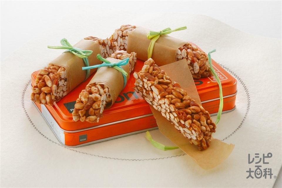 ライスチョコバー(製菓用スイートチョコレート+くるみを使ったレシピ)