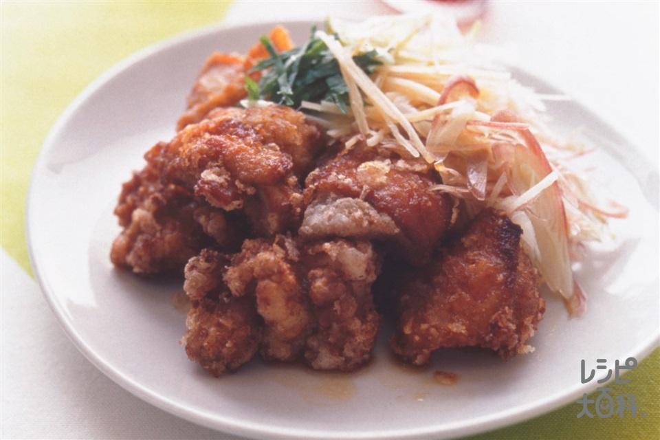 鶏のから揚げ 香味野菜ソース(鶏もも肉+ねぎを使ったレシピ)