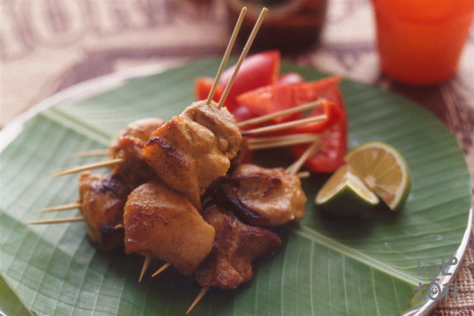 エスニック風焼鳥(鶏もも肉+すだちを使ったレシピ)