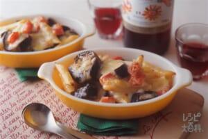 なすとパスタのチーズ焼き(なす+ペンネを使ったレシピ)