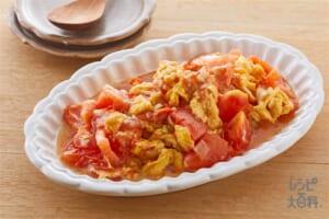 トマトと卵のオイスターソース炒め