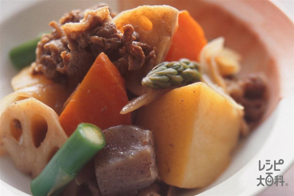 野菜たっぷり肉じゃが(じゃがいも+にんじんを使ったレシピ)