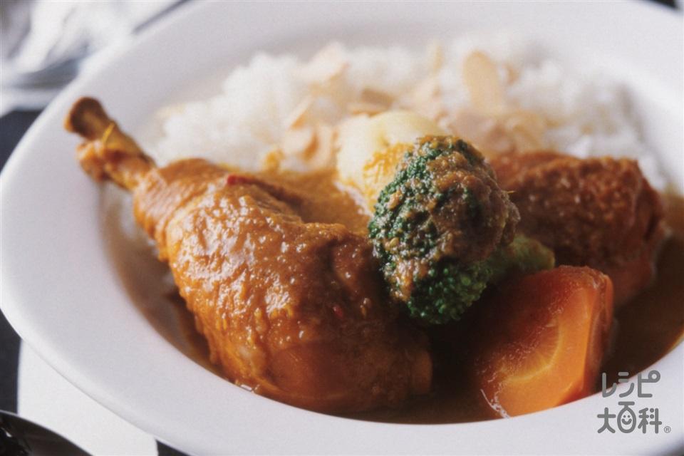 本格チキンカレー(鶏骨つきもも肉ぶつ切り+ご飯を使ったレシピ)