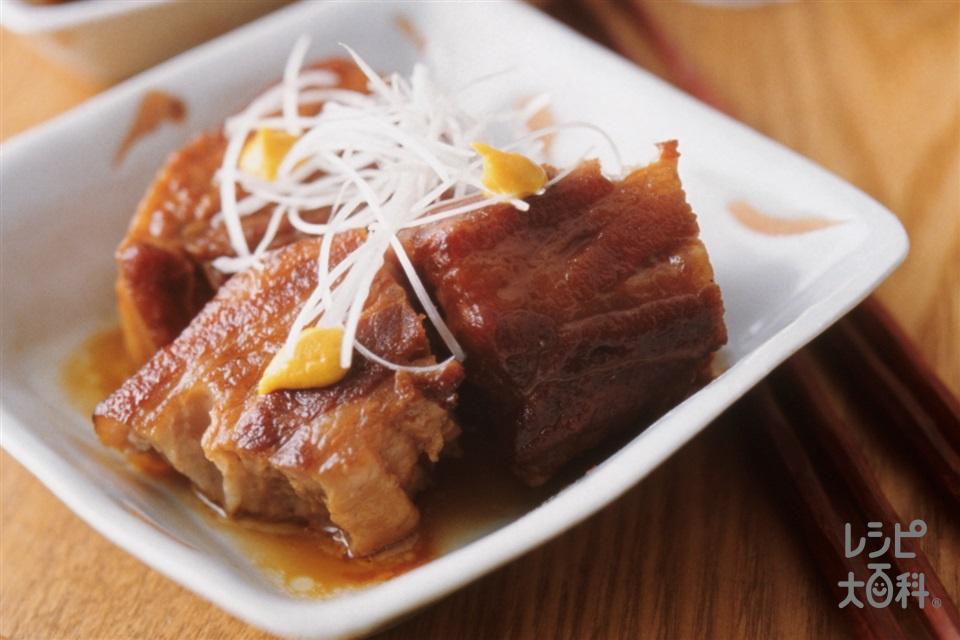 ピリとろ豚の角煮(豚バラかたまり肉+グラニュー糖を使ったレシピ)
