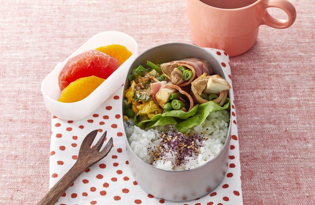 ベーコンの 野菜巻き弁当