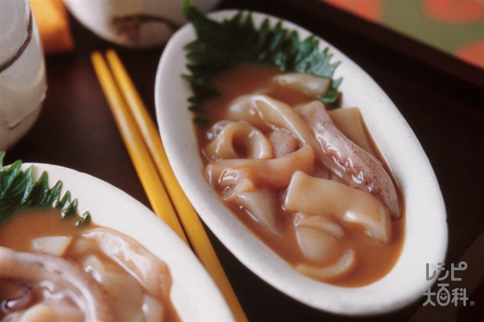 いかの塩辛(いか+「瀬戸のほんじお」を使ったレシピ)