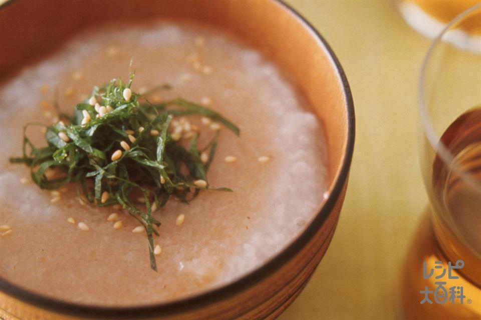 白がゆの梅れんこんあんかけ(れんこん+梅肉を使ったレシピ)