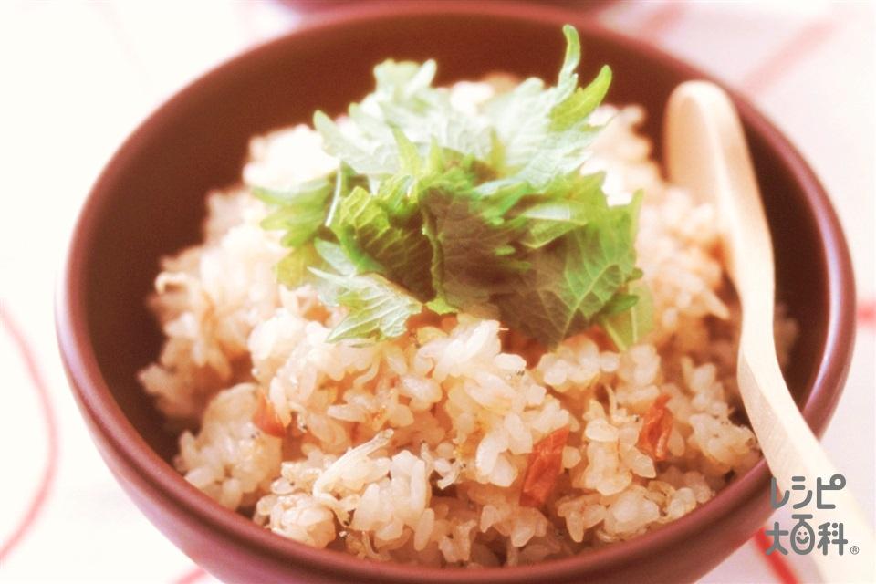 梅じゃこチャーハン(ちりめんじゃこ+ご飯を使ったレシピ)