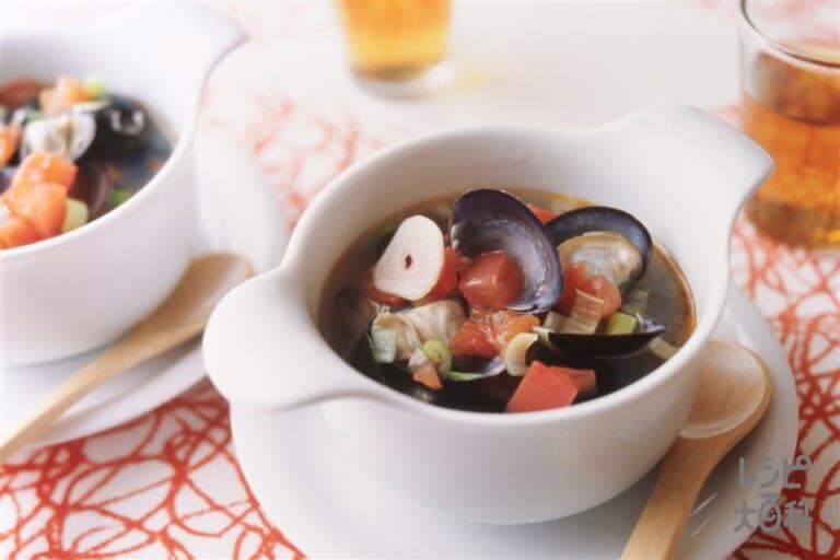 しじみとトマトの中国風スープ