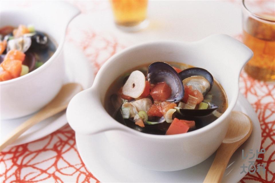 しじみとトマトの中国風スープ(しじみ+トマトを使ったレシピ)