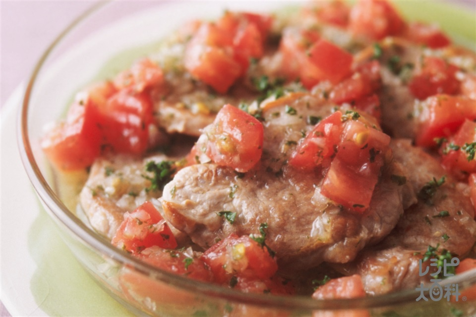 豚肉のトマトマリネ(豚ヒレかたまり肉+トマトを使ったレシピ)