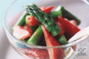 グリーンアスパラといちごのサラダ