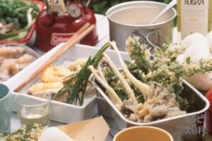 魚介と野菜の天ぷら