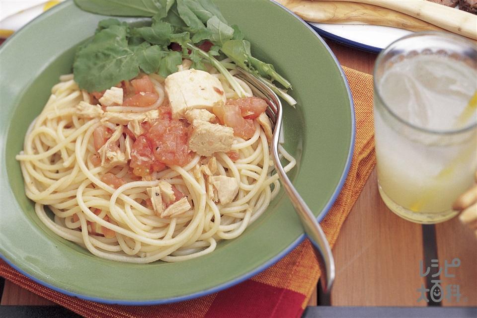 ツナとフレッシュトマトのスパゲッティ