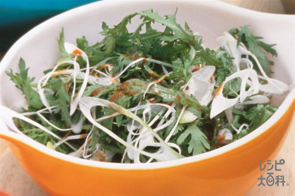 春菊とねぎのサラダ(春菊+ねぎを使ったレシピ)