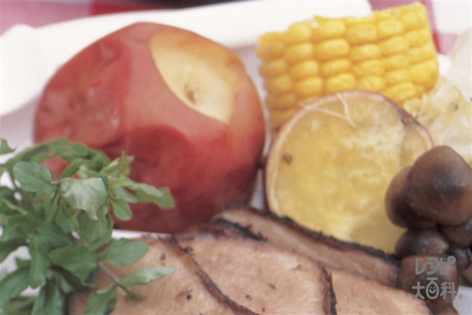 焼きりんご(りんご+グラニュー糖を使ったレシピ)