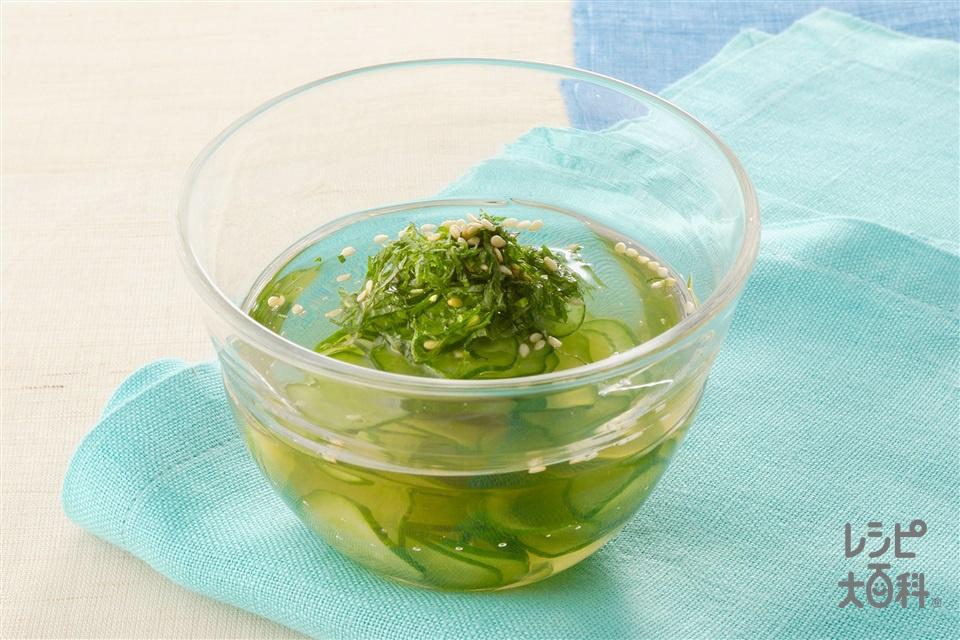 きゅうりと青じその冷や汁(きゅうり+A水を使ったレシピ)