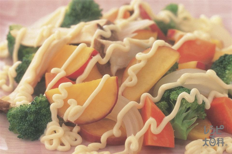 さつまいもとエリンギのコンソメマヨネーズサラダ(さつまいも+エリンギを使ったレシピ)