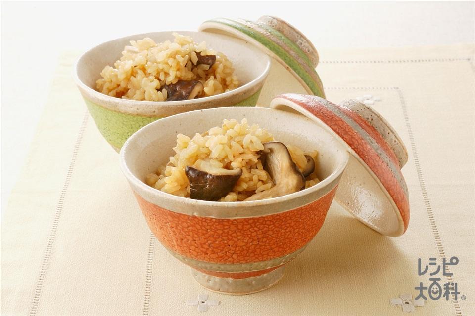 しいたけご飯(しいたけ+米を使ったレシピ)