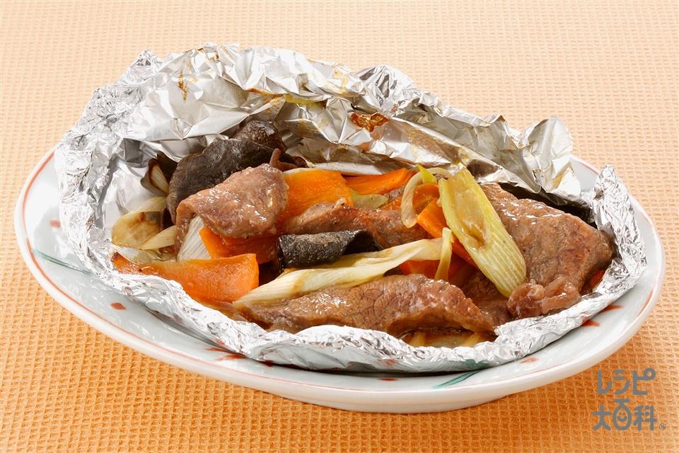 牛肉のつつみ焼き(牛薄切り肉+にんじんを使ったレシピ)