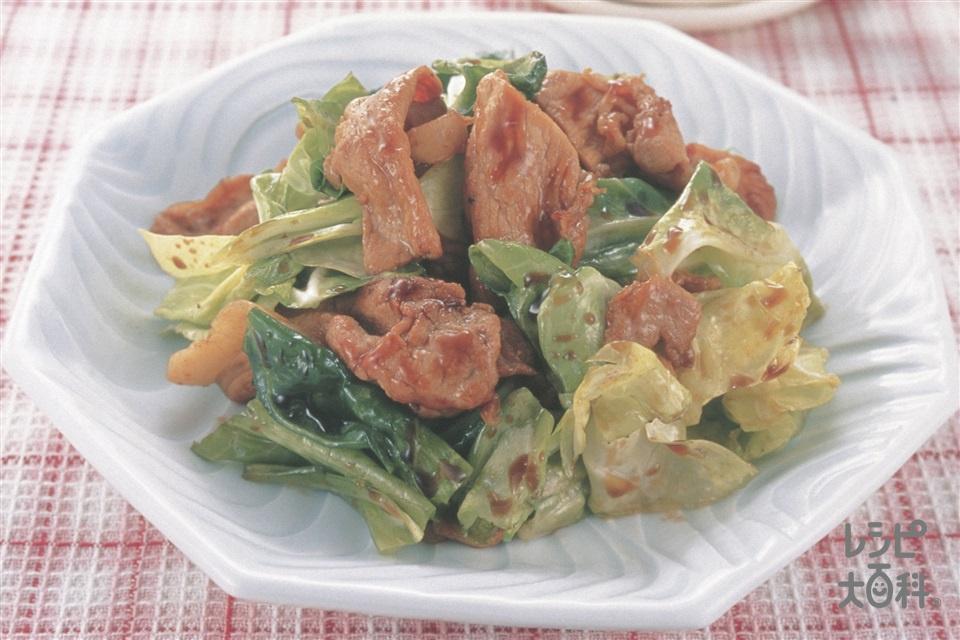 キャベツと薄切り肉の早・旨炒め(キャベツ+豚もも薄切り肉を使ったレシピ)