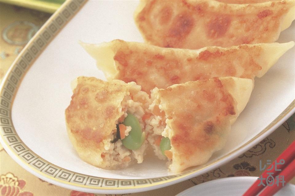 ヘルシー豆腐ギョーザ(餃子の皮+木綿豆腐を使ったレシピ)