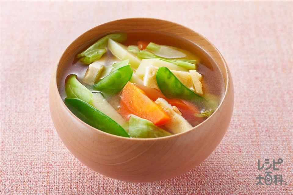 旬の香り汁(春)(キャベツ+じゃがいもを使ったレシピ)