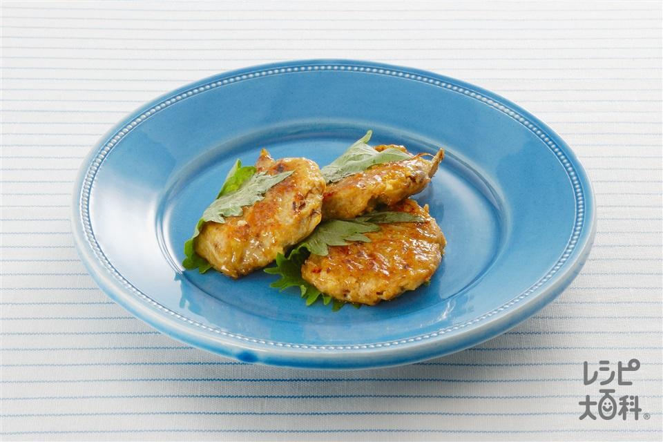 豆腐のごぼう入りつみれバーグ(木綿豆腐+いわしのつみれを使ったレシピ)