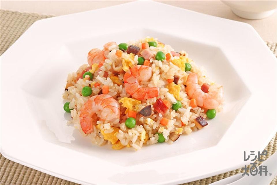 焼き飯(ご飯+にんじん(ゆで)を使ったレシピ)