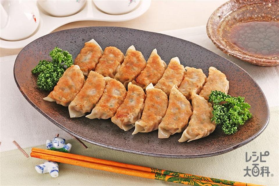 焼きギョーザ(豚ひき肉+白菜を使ったレシピ)