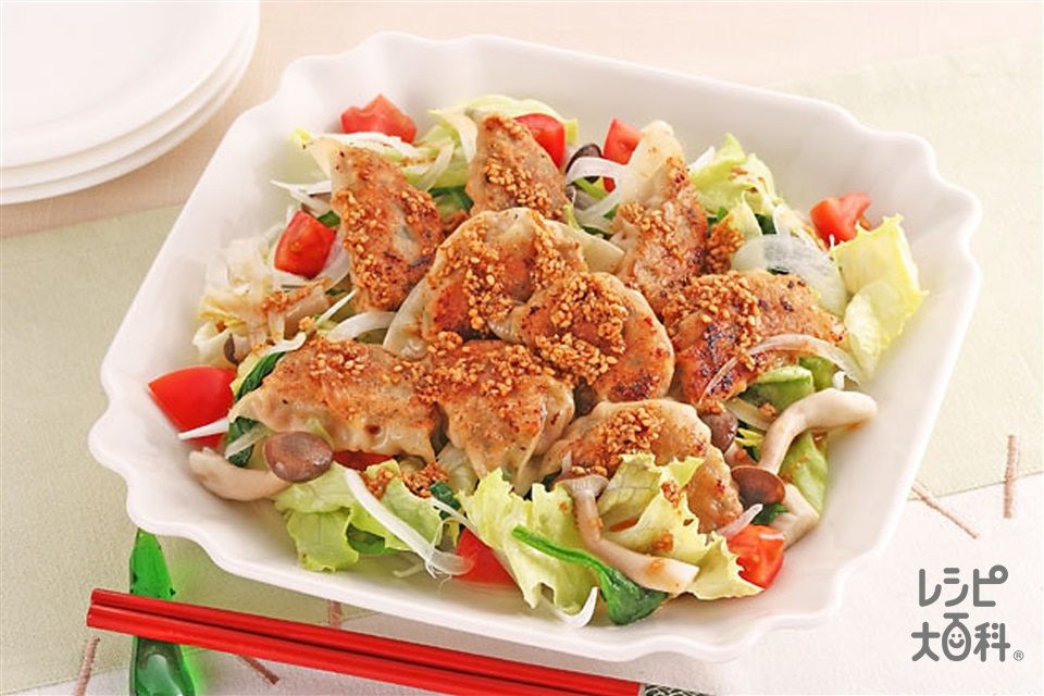 ギョーザの和風サラダ(白菜+トマトを使ったレシピ)
