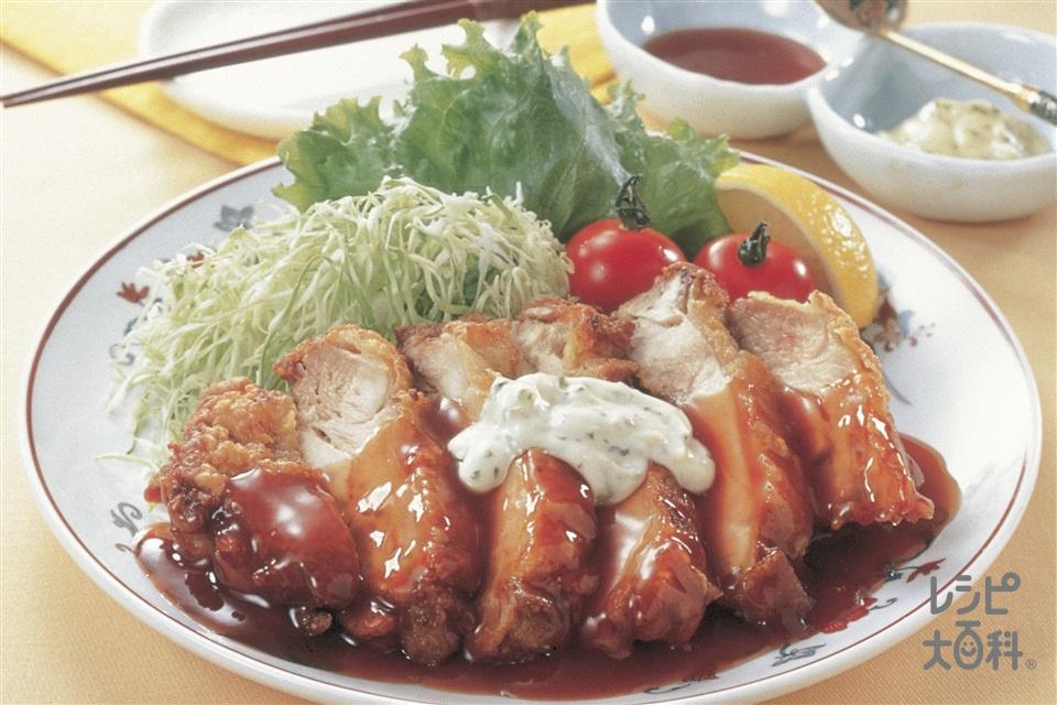 チキン南蛮風 揚げ焼き鶏の甘酢たれかけ