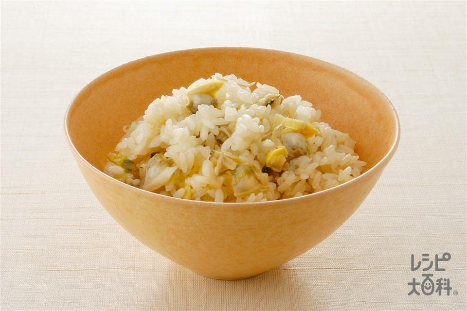 あさりの炊き込みご飯(米+あさりの水煮缶を使ったレシピ)
