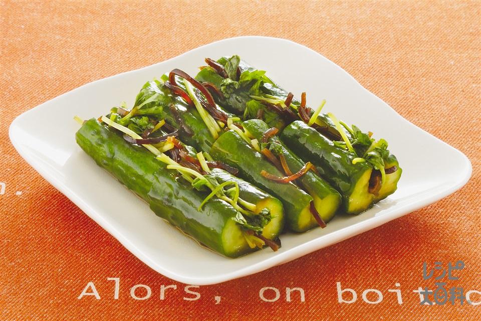 オイキムチ(きゅうり+「瀬戸のほんじお」を使ったレシピ)