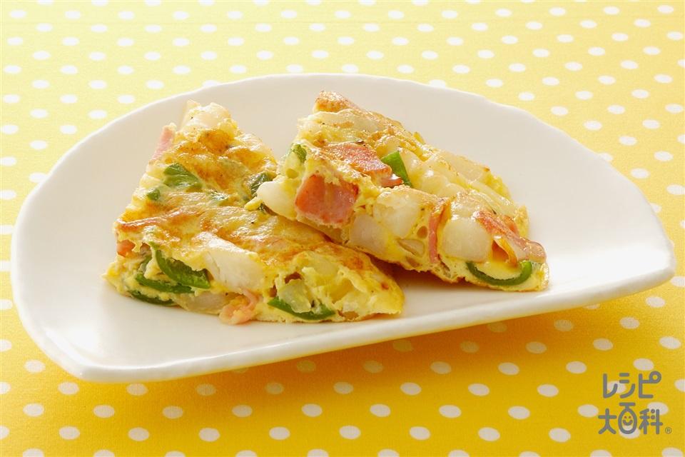 オープンオムレツ(玉ねぎ+卵を使ったレシピ)