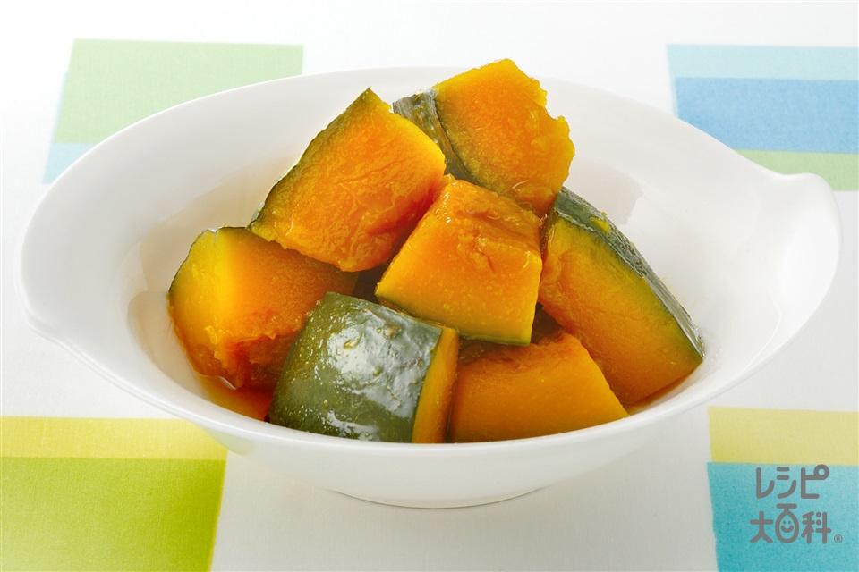 かぼちゃのレンジ甘辛煮(かぼちゃ+砂糖を使ったレシピ)