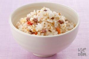 五穀米のごまご飯