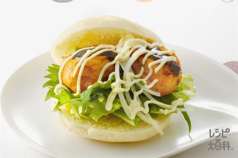 がんもバーガー(焼き豆腐+バーガーパンを使ったレシピ)