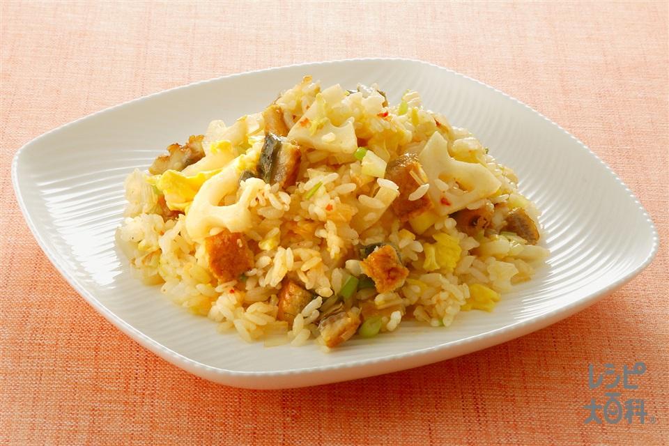 かば焼きチャーハン(ご飯+うなぎのかば焼きを使ったレシピ)