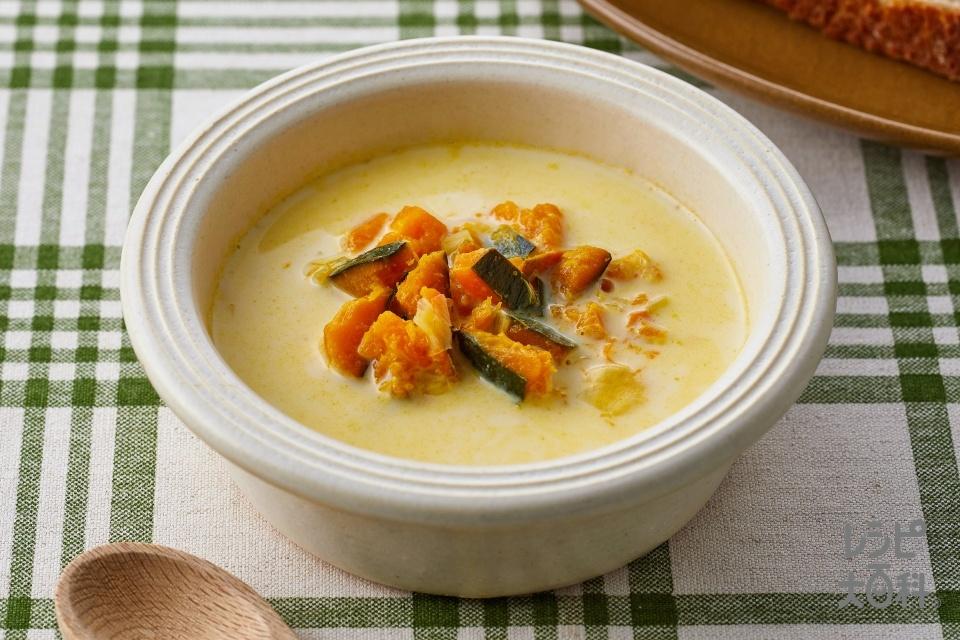 つぶつぶかぼちゃのスープ(かぼちゃ+牛乳を使ったレシピ)