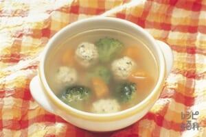 チキンボールと野菜のころころスープ