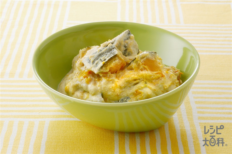 かぼちゃの豆腐あえ(かぼちゃ+絹ごし豆腐を使ったレシピ)