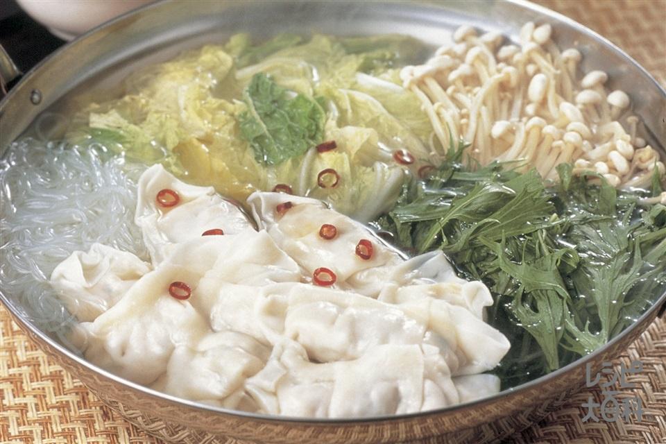 餃子鍋(味の素冷凍食品KK「ギョーザ」+白菜を使ったレシピ)