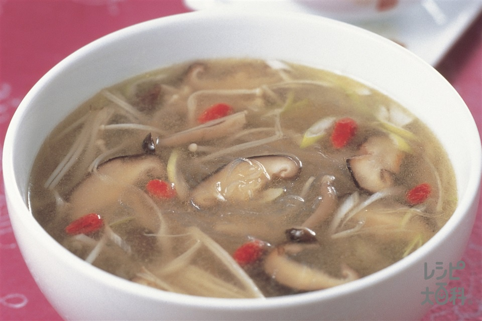 きのこと春雨のスープ(しめじ+えのきだけを使ったレシピ)