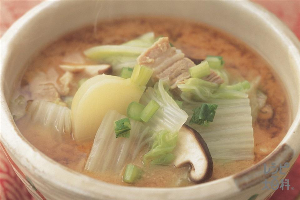 ザクザク白菜とかぶのおかず椀(白菜+豚バラ肉を使ったレシピ)